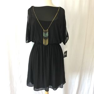 By & By NWT Black Chiffon dress S